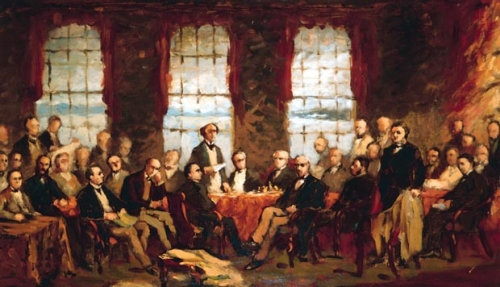 Robert Harris, Meeting of the Delegates of British North America, Confederation Centre Art Gallery