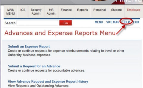 personal expense reports