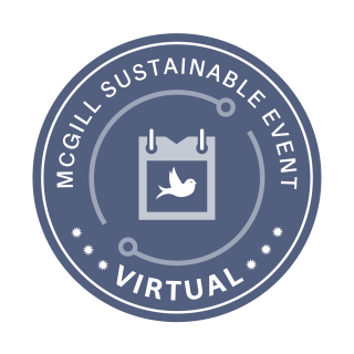 McGill Sustainable Virtual Event Certification Seal