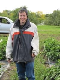 James Clark at the Macdonald Campus Horticultural Centre