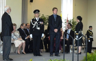 Scott at the ceremony (Cindya was absent)