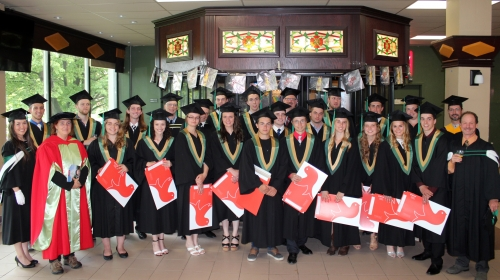 2017 FMT diploma recipients with teaching staff after spring 2017 convocation.