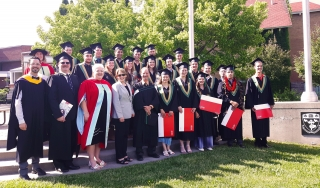 FMT Program Class of 2016 with the Principal of McGill, teaching staff and honourary doctorate recipient