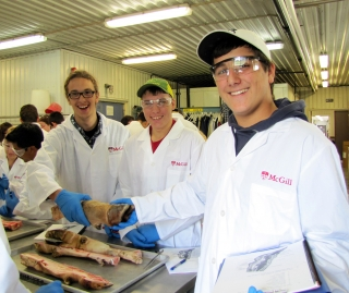 Students in the Farm Centre lab