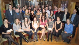 students awarded bursaries or awards at the annual FMT Awards night 2013