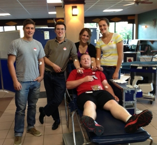 Our students are also blood donors.
