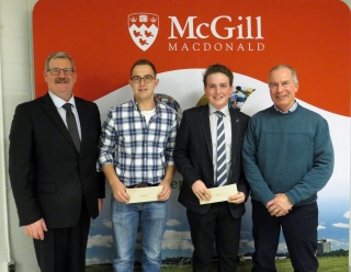 Noel Erskine and Brandon Scheepers, 2018 Paul Adam Memorial Award winners