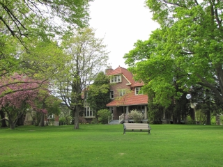 Harrison House view from Lakeshore Rd entrance