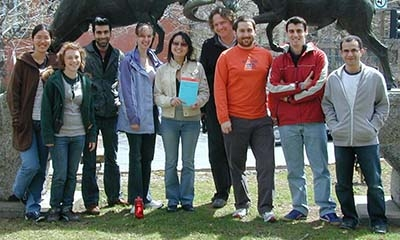 Group photo of the Fussmann lab members