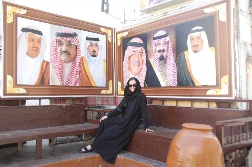 Sarah Moser in Saudi Arabia
