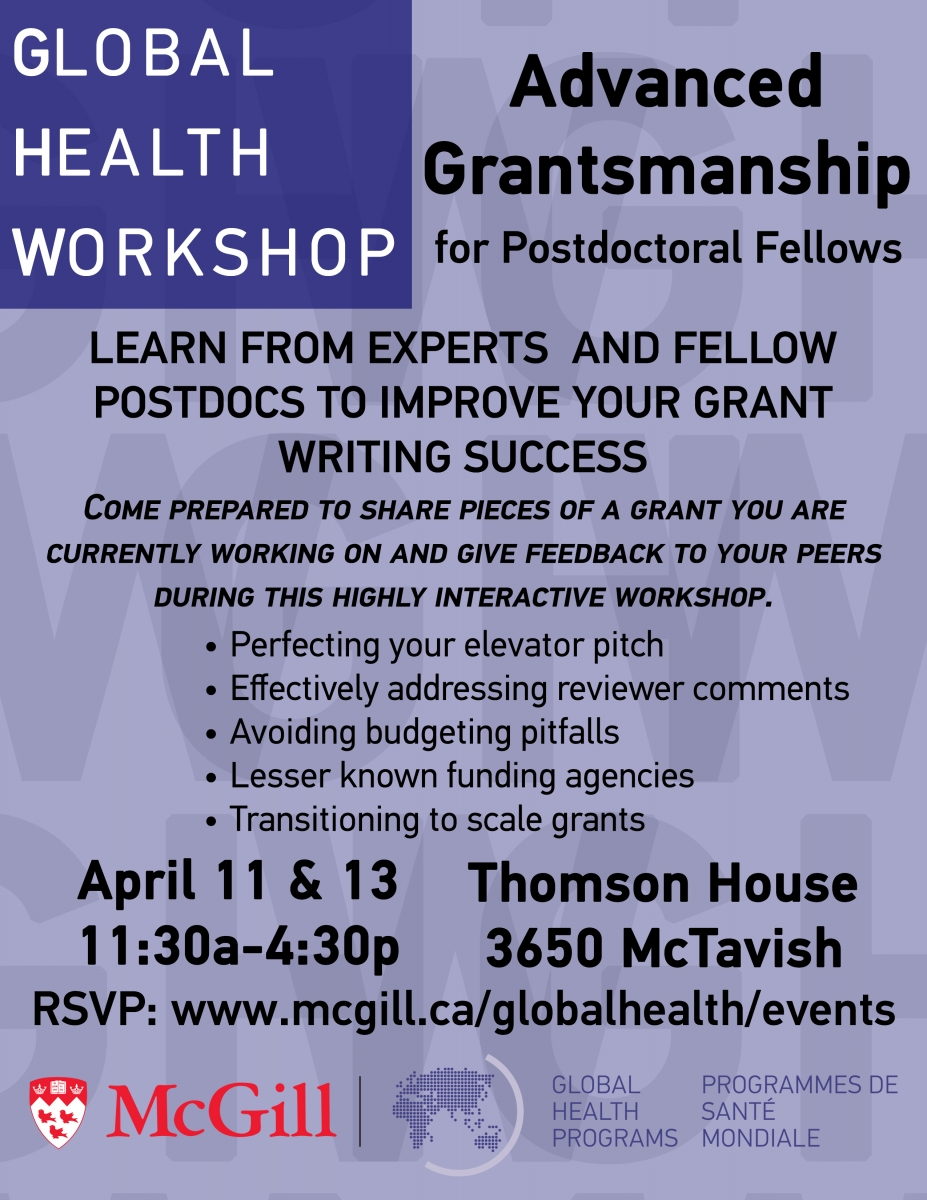 Global Health Workshop: Advanced Grantsmanship for