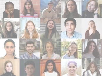Mosaic of the 2019 Global Health Scholars - Undergraduates