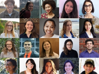 Mosaic of the 2020 Global Health Scholars - Undergraduates