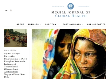 front page of the McGill Journal of Global Health