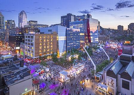 Photo of Montreal's Place des Festivals