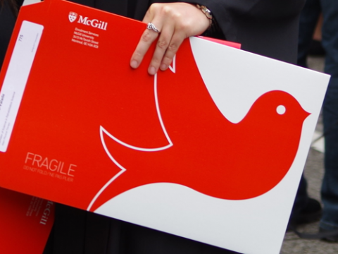 McGill diploma envelope