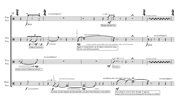 Excerpt form a Thierry Tidrow score