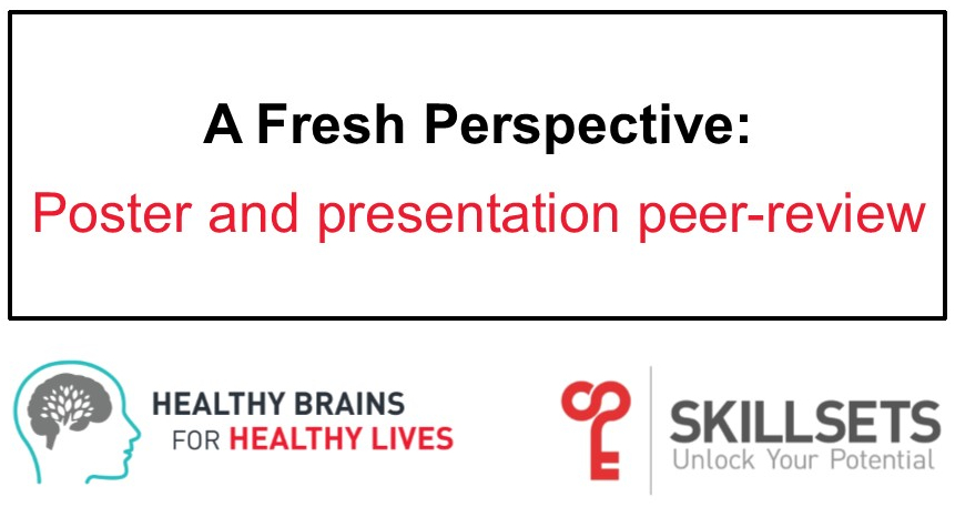 A Fresh Perspective: Poster and presentation peer-review