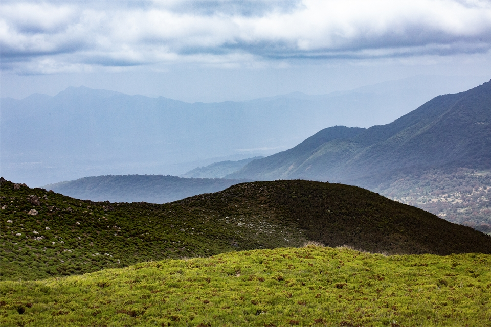 The green rolling Bale Mountains of Ethiopia, by Solen Feyissa.