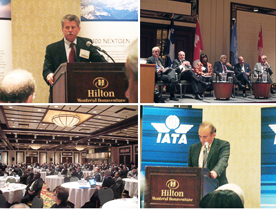 Mosaic of various moments at the conference.