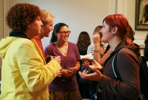 women's studies, students, welcome reception, IGSF, september 2010