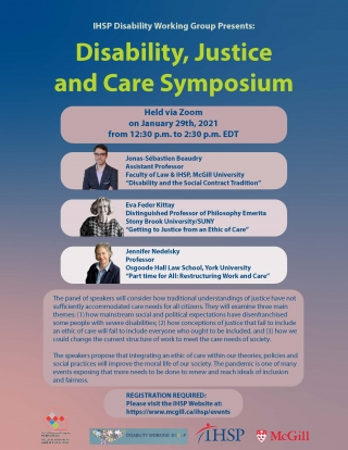 Disability, Justice and Care Symposium promotional flyer