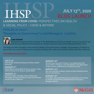 IHSP Blog Launch Announcement and Schedule