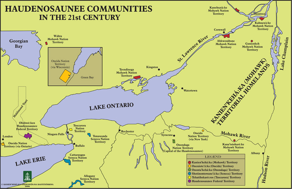 A current map of Haudenosaunee territory.