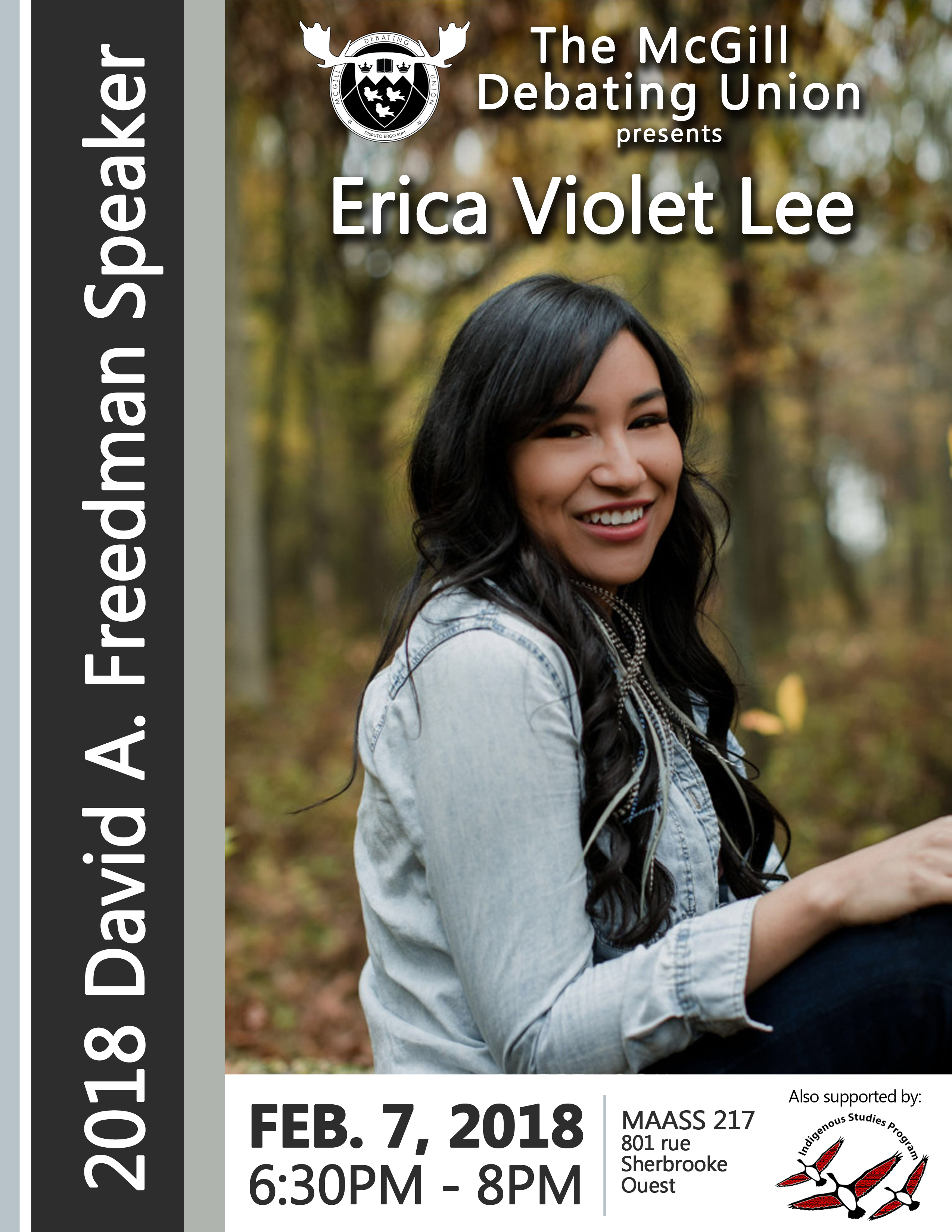 Erica Violet Lee at McGill: The McGill Debating Union Presents