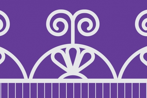The Sky Dome symbol in white against a purple background