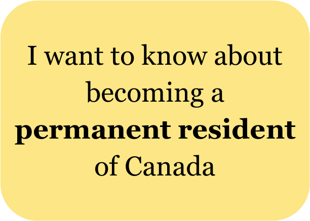 I want to know about becoming a permanent resident of Canada