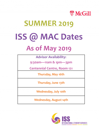 ISS Summer hours at Mac
