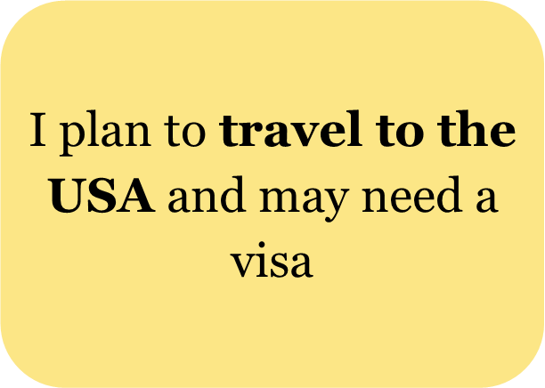 I plan to travel to the USA and may need a visa