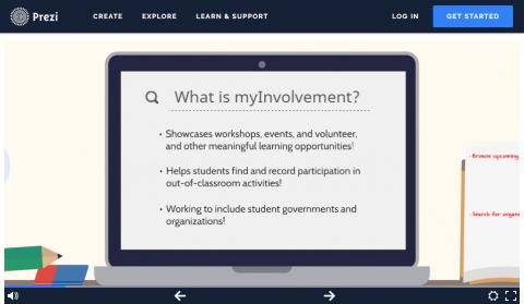 A screenshot of our Prezi presentation