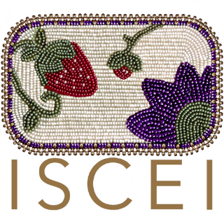 Beadwork by Catie Galbraith, 3rd Year, Chickasaw, ISCEI Logo