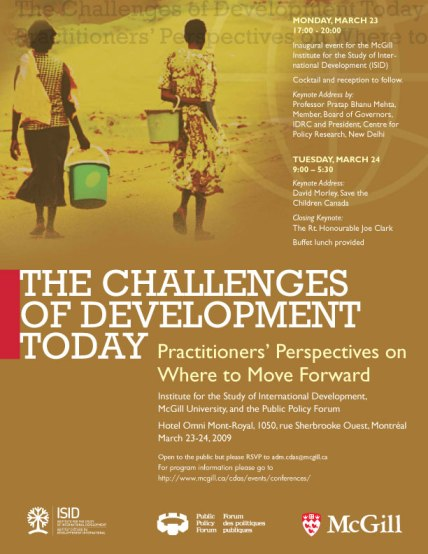 Inter Development the challenges of development today isid mcgill