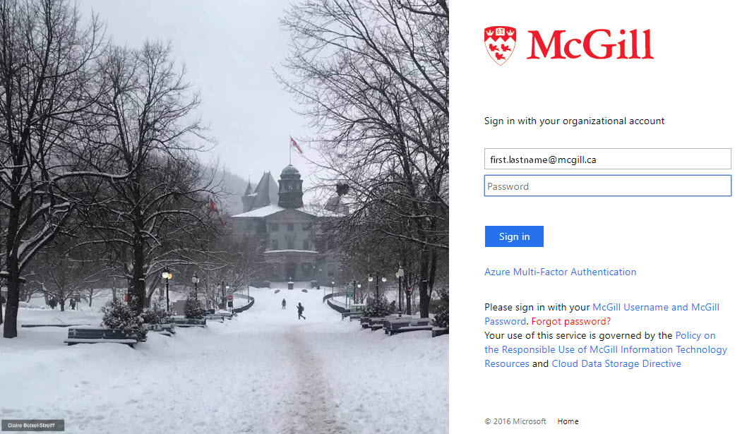 sign into mcgill s office 365 portal it services mcgill university