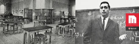 Classroom & professor from old McGill yearbook photos