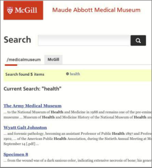 Searching the McGill Web System
