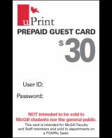 uPrint Prepaid Guest Card