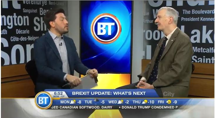 Armand de Mestral being interviewed on Montreal BT, February 2017.