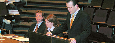 Students participating in the 2006 Bar Prize Moot