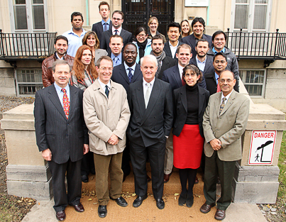 Institute of Air and Space Law - class photo  2008-2009