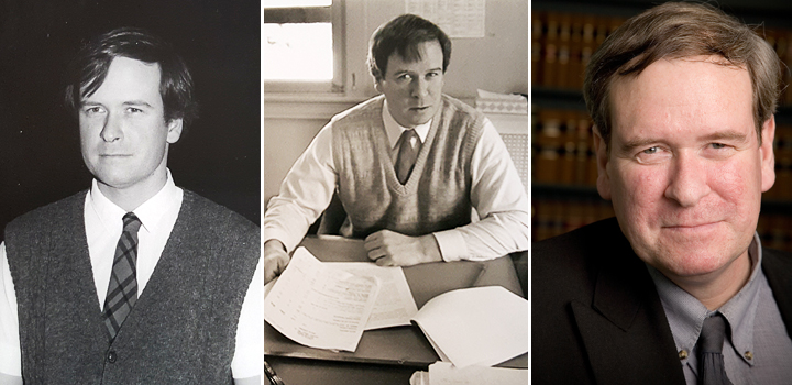 Photos of Professor G. Blaine Baker: 1) during the 80s; 2) in the early 90s; 3) In 2006.