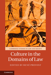 Cover - Cultures in the domains of law