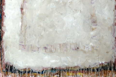 Detail of abstract painting located in Gelber Library