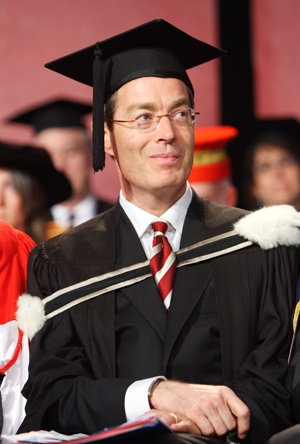 Nicholas Kasirer at the McGill Law convocation ceremony.