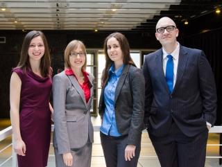 L-R: Olga Redko, Marion Sandilands, Allison Render & Lawrence David.