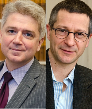Portraits of Professors Fabien Gélinas and René Provost.