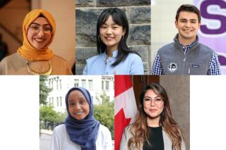 Fatima Beydoun, Grace Ma, Nico Waltenbury, Zeytouna Suleiman and Somaya Amiri.